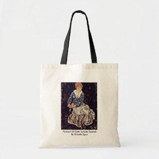 Portrait Of Edith Schiele Seated By Schiele Egon Bags