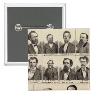 Portrait of Editors and Exeditors, Minnesota Pinback Button