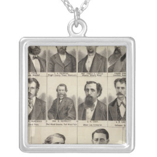 Portrait of Editors and Exeditors, Minnesota Silver Plated Necklace