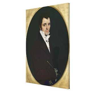 Portrait of Edme Bochet , 1811 Canvas Print