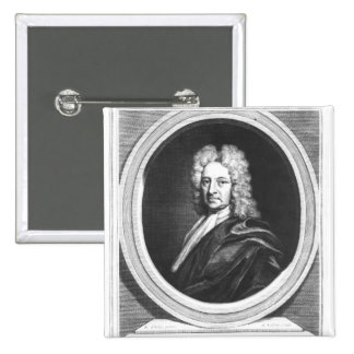 Portrait of Edmond Halley 2 Inch Square Button