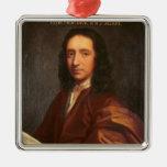 Portrait of Edmond Halley, c.1687 Metal Ornament