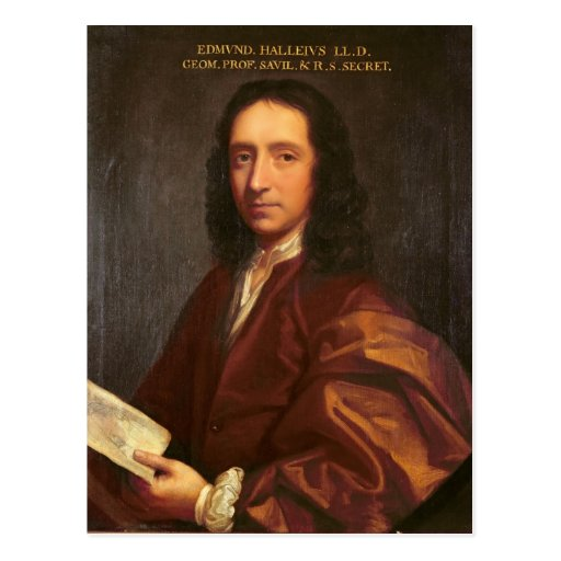 Portrait of Edmond Halley, c.1687 Postcards