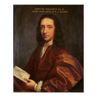 Portrait of Edmond Halley, c.1687 Poster
