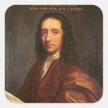 Portrait of Edmond Halley, c.1687 Square Sticker