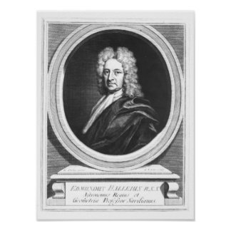 Portrait of Edmond Halley Poster