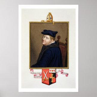 Portrait of Edmund Bonner (c.1500-69) Bishop of Lo Poster