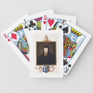 Portrait of Edmund Grindal (c.1519-83) Archbishop Bicycle Playing Cards