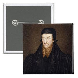 Portrait of Edmund Grindal (c.1519-83) Archbishop Button