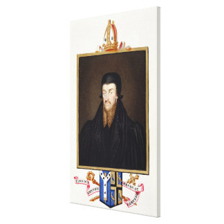 Portrait of Edmund Grindal (c.1519-83) Archbishop Canvas Print