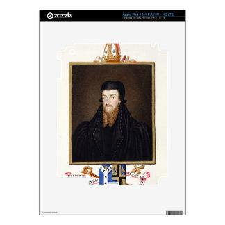 Portrait of Edmund Grindal (c.1519-83) Archbishop iPad 3 Skin