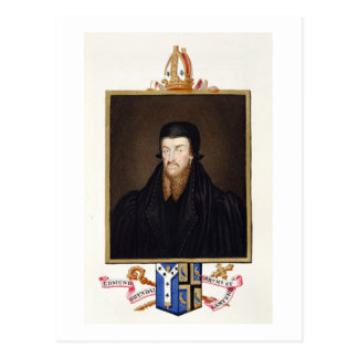 Portrait of Edmund Grindal (c.1519-83) Archbishop Postcard