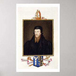 Portrait of Edmund Grindal (c.1519-83) Archbishop Poster
