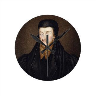 Portrait of Edmund Grindal (c.1519-83) Archbishop Round Clock