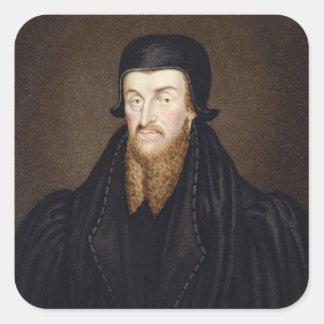 Portrait of Edmund Grindal (c.1519-83) Archbishop Square Sticker