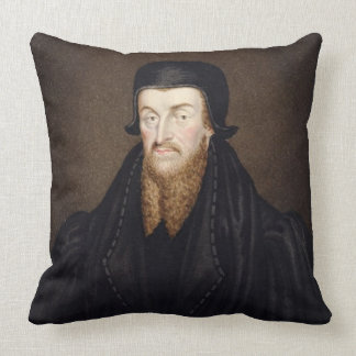 Portrait of Edmund Grindal (c.1519-83) Archbishop Throw Pillow