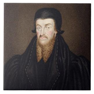 Portrait of Edmund Grindal (c.1519-83) Archbishop Tile