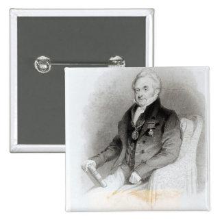 Portrait of Edmund Lodge Pinback Button