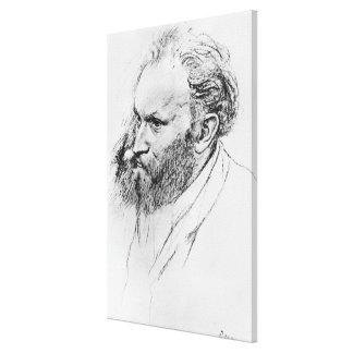 Portrait of Edouard Manet (1832-83) (pencil on pap Canvas Print
