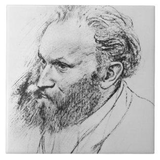Portrait of Edouard Manet (1832-83) (pencil on pap Tile