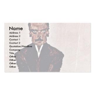 Portrait Of Eduard Kosmack By Schiele Egon Business Card