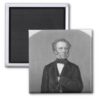 Portrait of Edward Baines 2 Inch Square Magnet