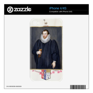 Portrait of Edward Coke (1552-1634) from 'Memoirs Skin For iPhone 4S