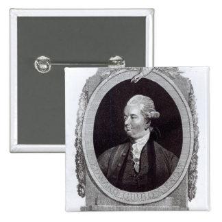Portrait of Edward Gibbon 2 Inch Square Button