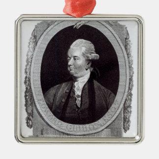 Portrait of Edward Gibbon Metal Ornament