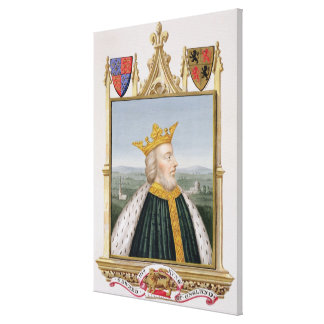 Portrait of Edward III (1312-77) King of England f Canvas Prints