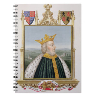 Portrait of Edward III (1312-77) King of England f Notebook