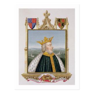 Portrait of Edward III (1312-77) King of England f Postcard