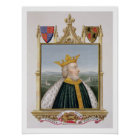 Portrait of Edward III (1312-77) King of England f Poster