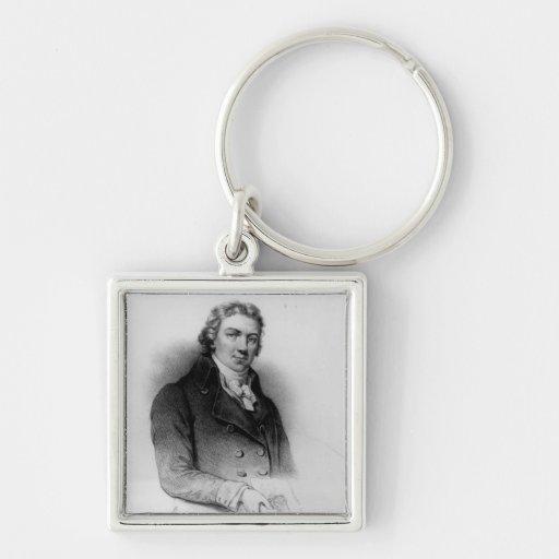Portrait of Edward Jenner Keychain