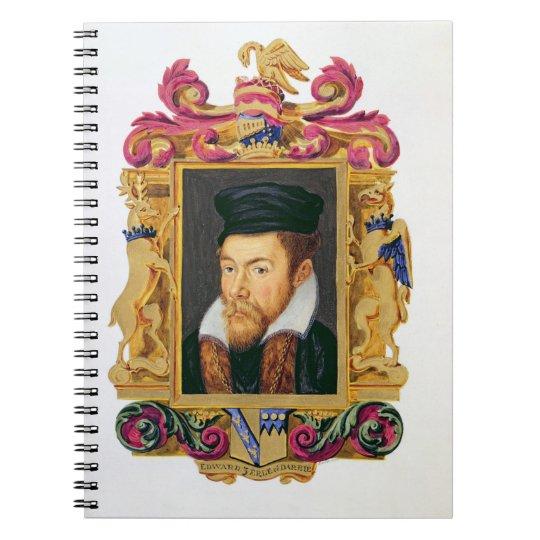 Portrait of Edward Stanley (1508-72) 3rd Earl of D Notebook