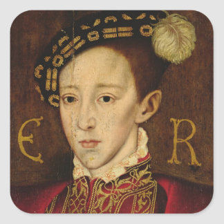 Portrait of Edward VI Square Sticker