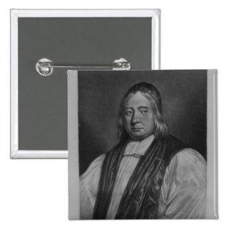 Portrait of Edward Wetenhall 2 Inch Square Button