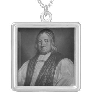 Portrait of Edward Wetenhall Square Pendant Necklace
