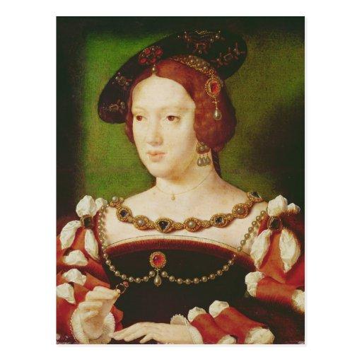 Portrait of Eleanor of Hapsbourg Postcard
