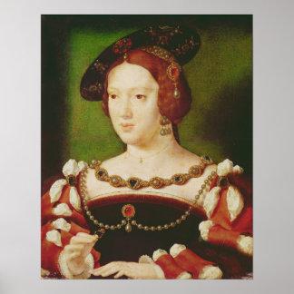 Portrait of Eleanor of Hapsbourg Posters