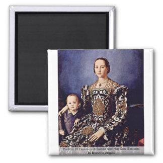 Portrait Of Eleonora Di Toledo  By Bronzino Angelo Magnet