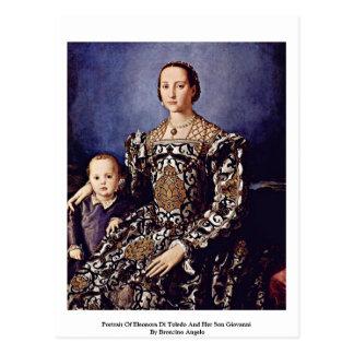 Portrait Of Eleonora Di Toledo  By Bronzino Angelo Postcard