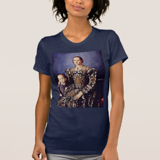 Portrait Of Eleonora Di Toledo  By Bronzino Angelo Tee Shirts