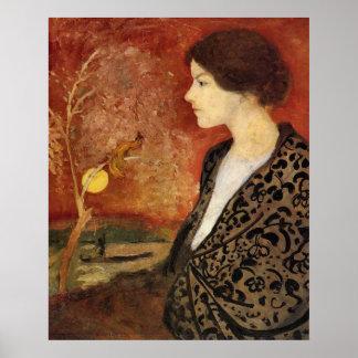 Portrait of Elisabeth Gerhardt by August Macke Poster