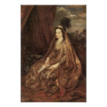 Portrait of Elisabeth Theresa by Antoon van Dyck Print