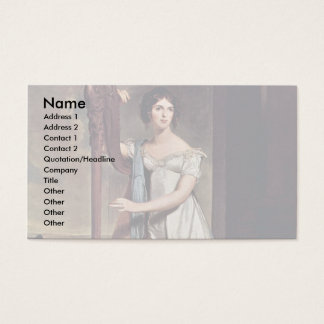Portrait Of Eliza Ridgely (The Lady With The Harp) Business Card