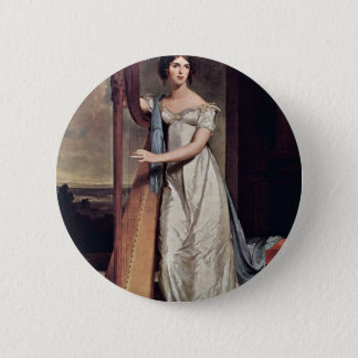 Portrait Of Eliza Ridgely (The Lady With The Harp) Button