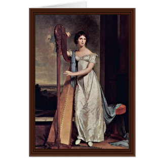 Portrait Of Eliza Ridgely (The Lady With The Harp) Card