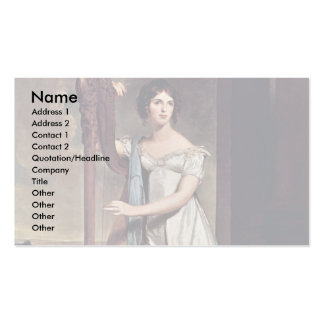 Portrait Of Eliza Ridgely (The Lady With The Harp) Double-Sided Standard Business Cards (Pack Of 100)