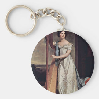 Portrait Of Eliza Ridgely (The Lady With The Harp) Keychain